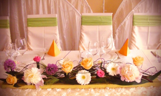 Details of the wedding table…