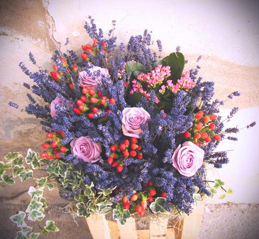 Lavender and roses…